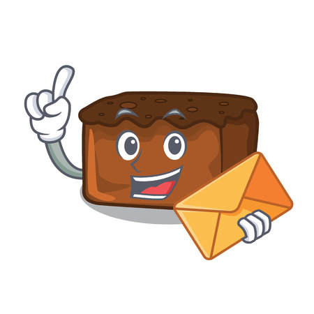 With envelope brownies character cartoon style