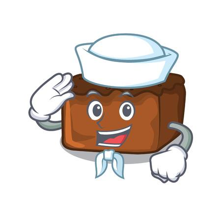 Sailor brownies character cartoon style vector illustration