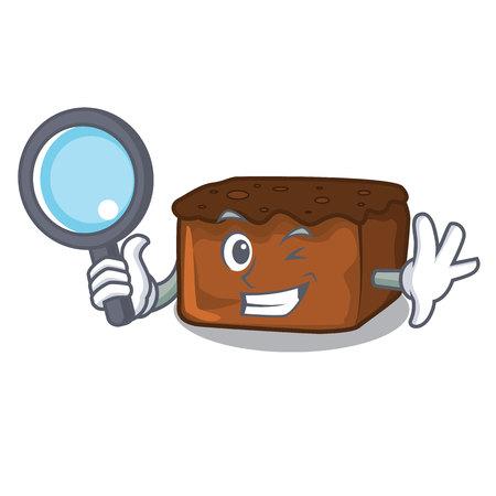 Detective brownies character cartoon style vector illustration 일러스트