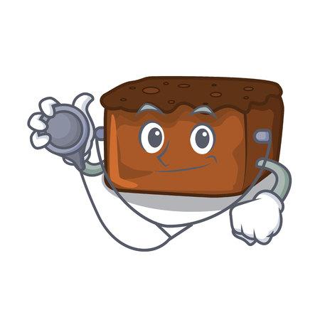 Doctor brownies character cartoon style vector illustration Çizim