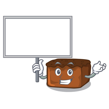 Bring board brownies character cartoon style vector illustration