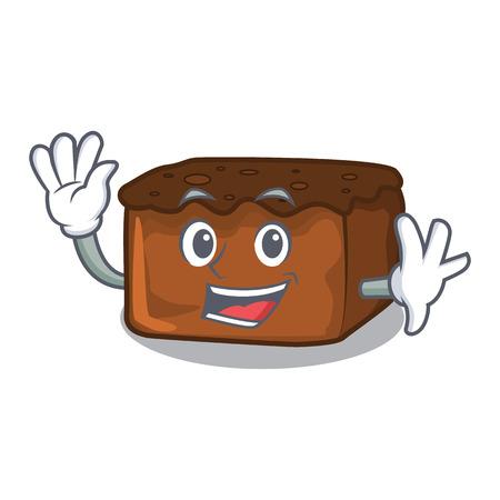 Waving brownies character cartoon style vector illustration
