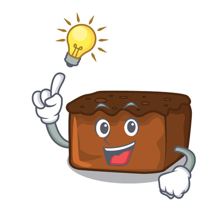 Have an idea brownies mascot cartoon style vector illustration Illustration