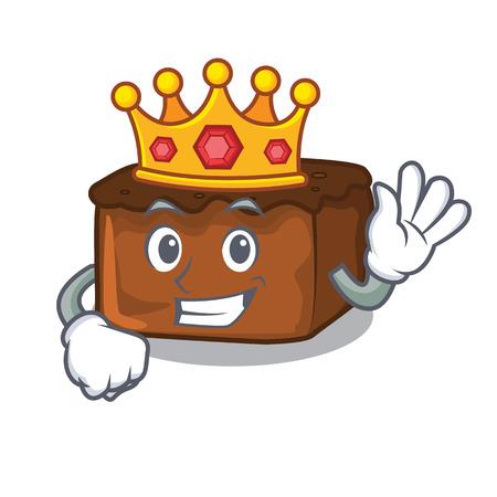 King brownies mascot cartoon style vector illustration