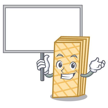 Bring board waffle character cartoon style