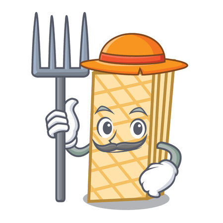 Farmer waffle character cartoon style