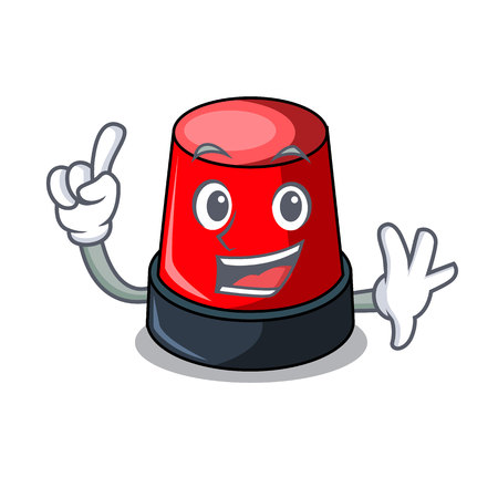 Finger sirine mascot cartoon style Illustration