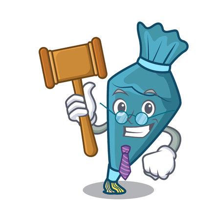 Judge pastry bag mascot cartoon style