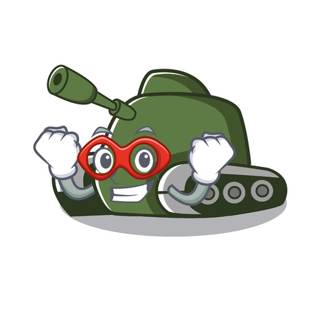 Super hero tank character cartoon style vector illustration Illusztráció