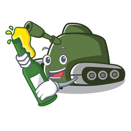 With beer tank mascot cartoon style vector illustration Illustration