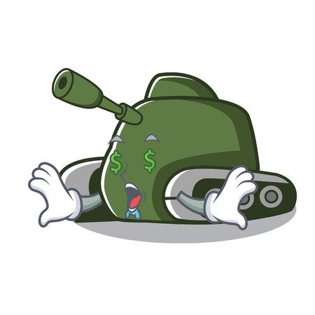 Money eye tank mascot cartoon style vector illustration Vectores