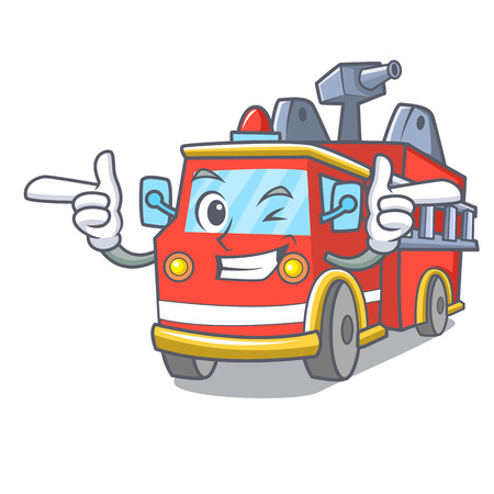 Wink fire truck character cartoon