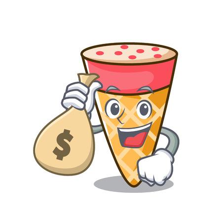 With money bag ice cream tone character cartoon Stockfoto - 102248132