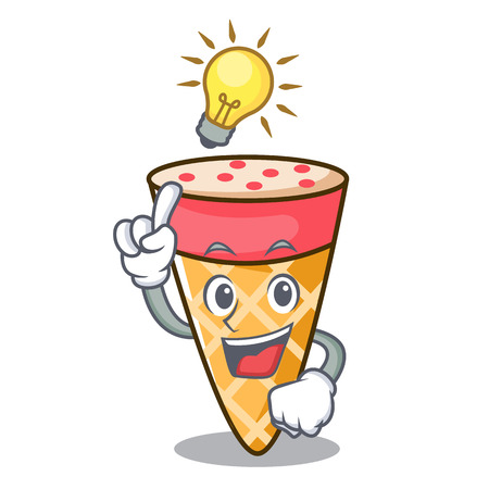 Have an idea ice cream tone mascot cartoon Illustration