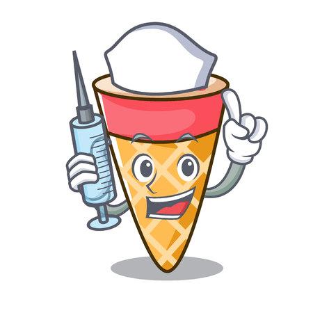 Nurse ice cream tone character cartoon vector illustration Stock Photo