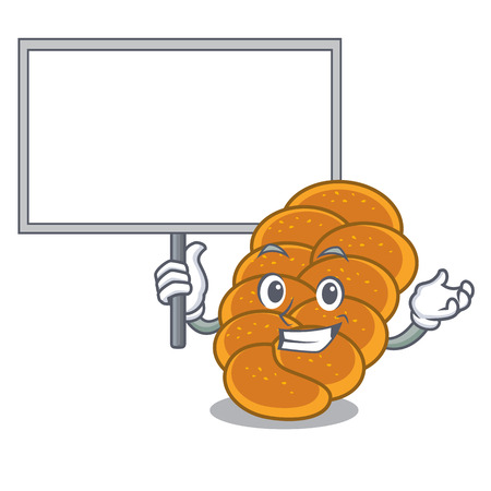 Bring board challah character cartoon style vector illustration