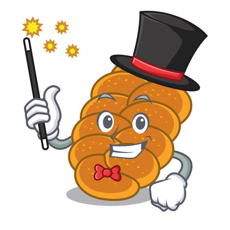 Magician challah mascot cartoon style vector illustration Stock fotó