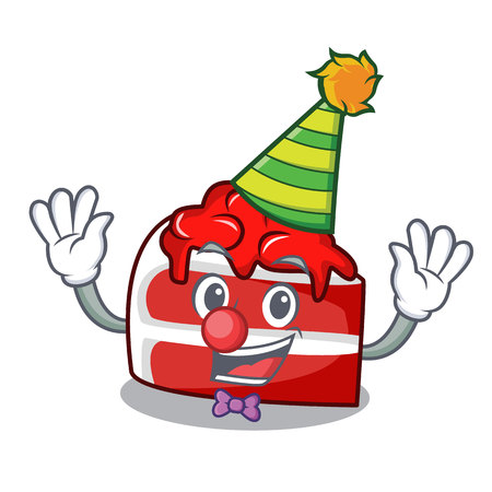 Clown red velvet mascot cartoon