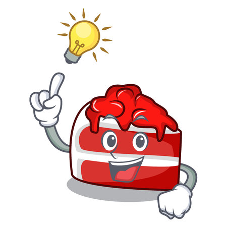 Have an idea red velvet mascot cartoon Illustration