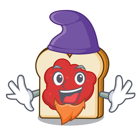 Elf bread with jam character cartoon vector illustration