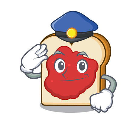 Police bread with jam character cartoon vector illustration