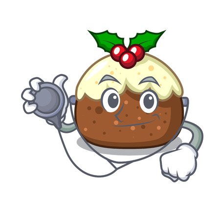 Doctor fruit cake character cartoon
