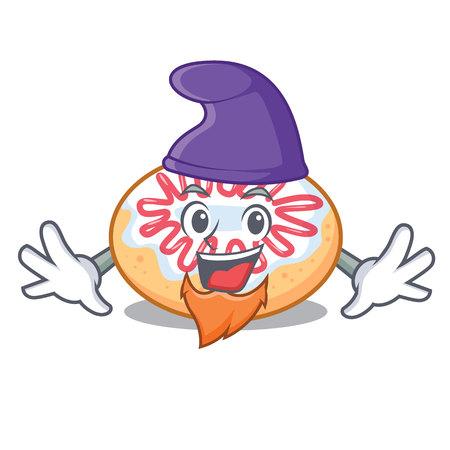 Elf jelly donut character cartoon vector illustration