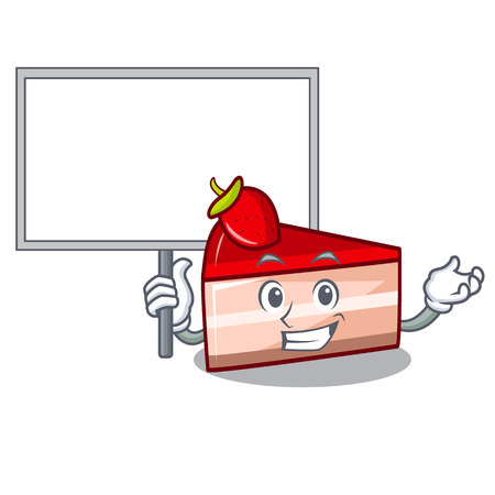 Bring board strawberry cake character cartoon