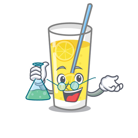 Professor lemonade character cartoon style vector illustration