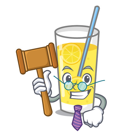 Judge lemonade mascot cartoon style vector illustration
