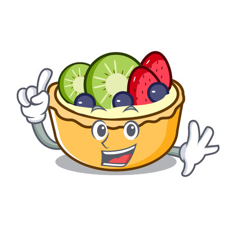 Finger fruit tart mascot cartoon vector illustration Illustration