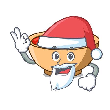 Santa tomato soup character cartoon vector illustration Illustration