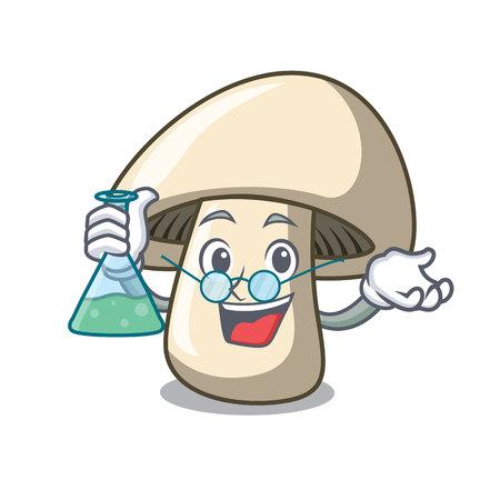 Professor champignon mushroom character cartoon vector illustration
