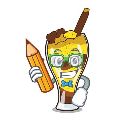 Illustration vectorielle de mangonada étudiant fruits personnage dessin animé