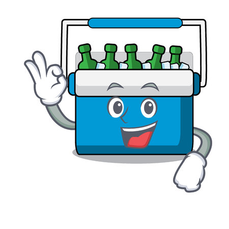 Okay freezer bag character cartoon vector illustration