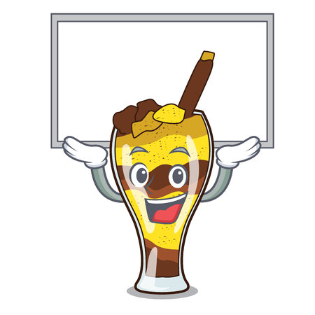 Up board mangonada fruit character cartoon vector illustration  イラスト・ベクター素材