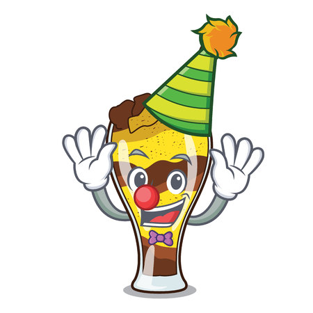 Clown mangonada fruit mascot cartoon vector illustration