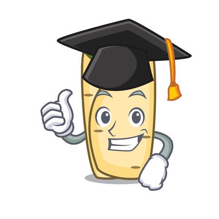 Graduation burrito character cartoon style vector illustration Illustration