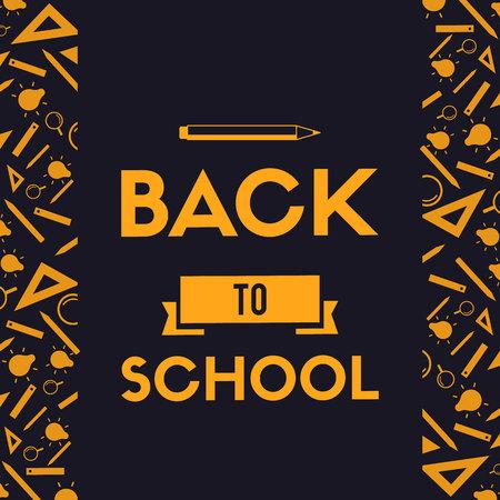 Back to school design blackboard banner vector illustration Vettoriali