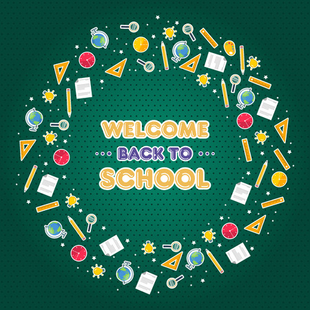 Back to school design banner with pencil vector illustration