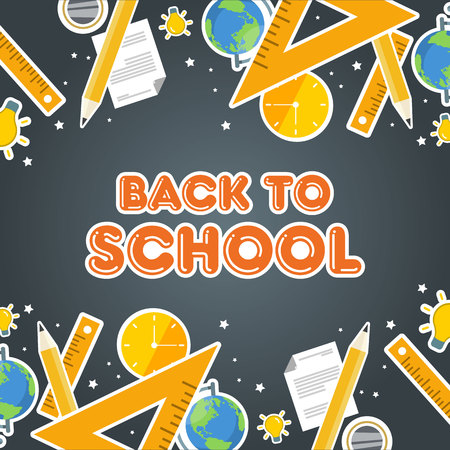 Back to school welcome education vector illustration