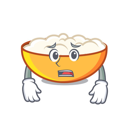 Afraid cottage cheese mascot cartoon Banco de Imagens - 102822662