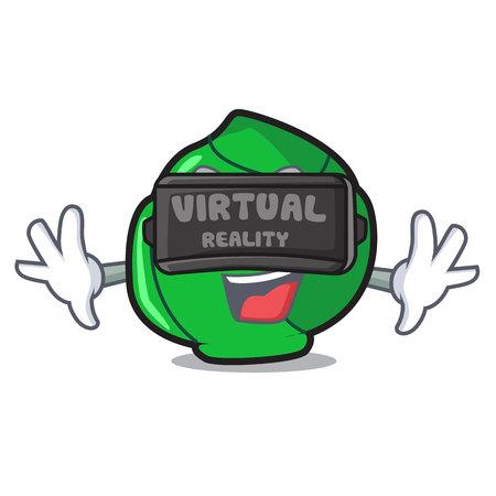Virtual reality brussels mascot cartoon style