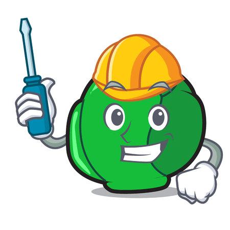 Automotive brussels mascot cartoon style Illustration