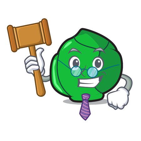 Judge brussels mascot cartoon style