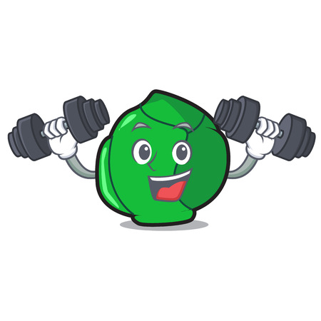 Fitness brussels character cartoon style