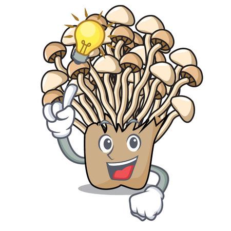 Have an idea enoki mushroom mascot cartoon