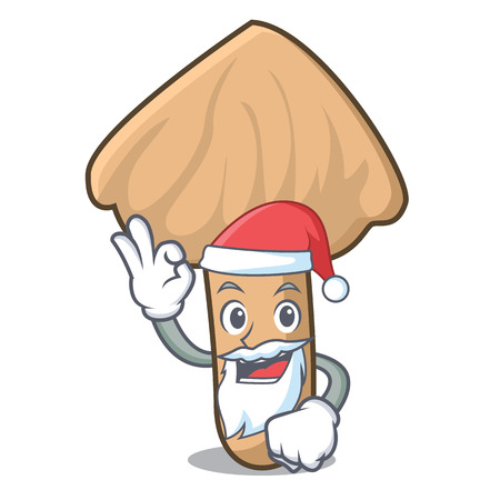 Santa inocybe mushroom mascot cartoon Illustration