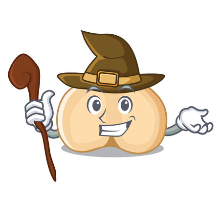 Witch chickpeas mascot cartoon style Illustration