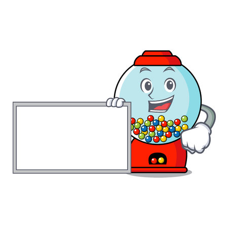 With board gumball machine character cartoon